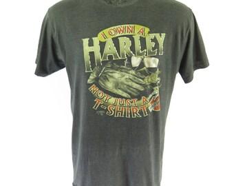 Vintage 90s 3D Emblem Harley Davidson T Shirt XL Not Just a T-shirt Sturgis [H57Y_0-10]