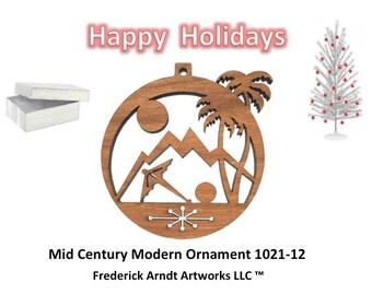 1021-12 Mid Century Modern Christmas Ornament