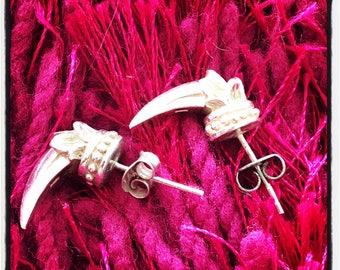 Silver Snake bones Snake Bones Snake Bones earrings Snake Vertebrae earrings Snake Spine Snake Spine earrings Silver Snake Earrings Snake