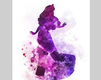 Aurora, Sleeping Beauty inspired ART PRINT illustration, Disney, Princess, Wall Art, Home Decor, Nursery, Gift