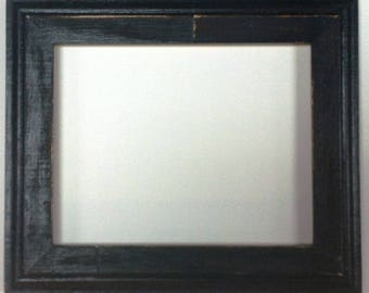 "1-3/4"" Black Distressed Picture Frame"