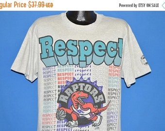 XMAS in JULY SALE 90s Toronto Raptors Respect In the Paint t-shirt Large