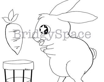 Bunny Colouring Page