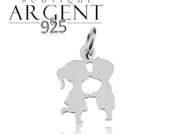 Sweetheart shape 17.8 X 12.6 mm 925 sterling silver charm