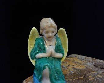 Vintage Angel, Manger scene, Christmas Decoration, decor, gold, chi a, Made in Japan, #579
