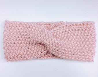 Headband / Bandeau / Pink Alpaga / Free Shipping in Europe