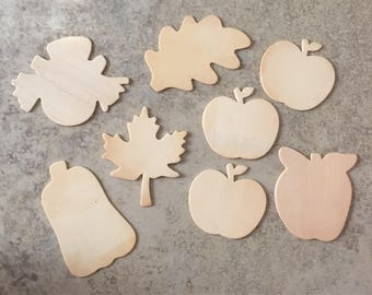 Fall Wood Cutouts