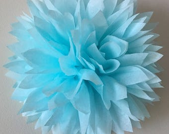 BABY BLUE / 1 tissue paper pom pom / baby shower / wedding / birthday / bridal shower / nursery decor / anniversary / photo prop / DIY