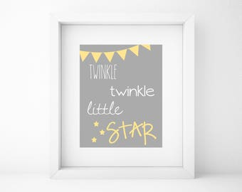 Save an extra 25% with code WINTER25 -Twinkle Twinkle Little Star Printable - Instant Download