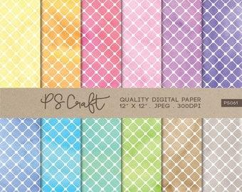 15% OFF Lattice Watercolor Digital Papers, Lattice Paper Pack, Lattice Patterns, Watercolor Papers, Lattice Patterns,