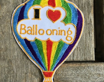 I Love Ballooning Vintage Patch