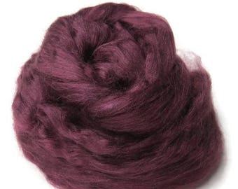 SALE 1 oz  Tussah Silk Roving ,color Purple