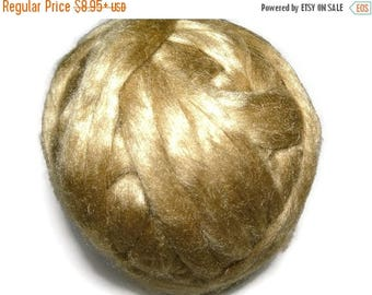 SALE Royal Natural Golden Muga Silk Roving,1 oz Gold