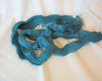 Hand Dyed/Painted - Teal - 3 Ply Sport Weight Alpaca Yarn - Grade 2- Superfine - 2.5 oz. - 200 Yds - 14-18 WPI