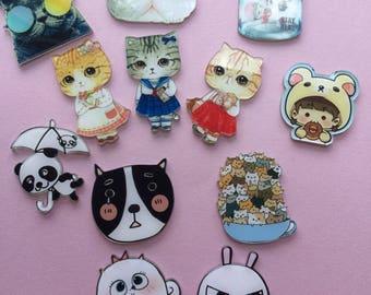 Kawaii Pins, Cute Pins, Backback Pins, Cute Animal Pins, Donut Pins, Pinbacks, Cat pins, Collectibles, Totoro, Cinnamaroll Inspired Pins