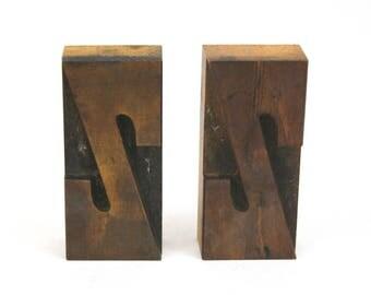 Letterpress Letter Z / Vintage Wood Printing Type Block / Letterpress Printing Letter Z