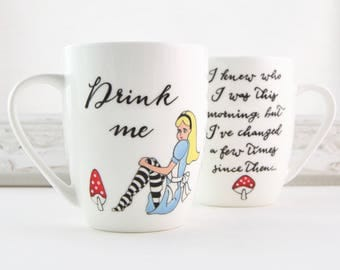 Drink Me Alice Bone China Mug