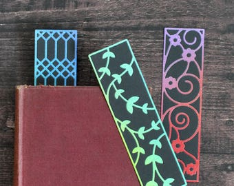 Artist Bookmark Set 5, Set of Three Collectible Handmade Bookmarks FREE UK SHIPPING Book Lover Gift stocking stuffer