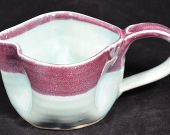 Purple and Blue Morning after mug