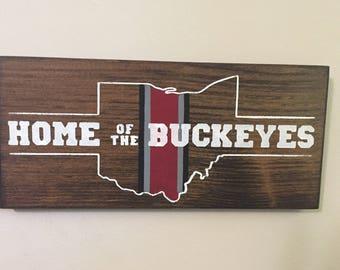 Ohio State Wall Art ohio state sign block o sign graduation gift dorm decor