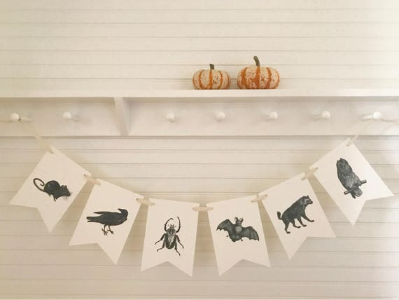 Minimalist Halloween Animal Bunting