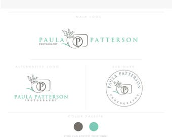 Dandelion Camera 2-  professional wedding photographer branding kit, logo template, fully customized, feminine camera kit