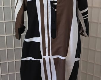 Catherine Ogust Penthouse Gallery signature Forever cotton dress size 8