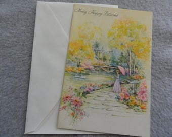 Many Happy Returns - Unused Birthday Card,  Free Shipping