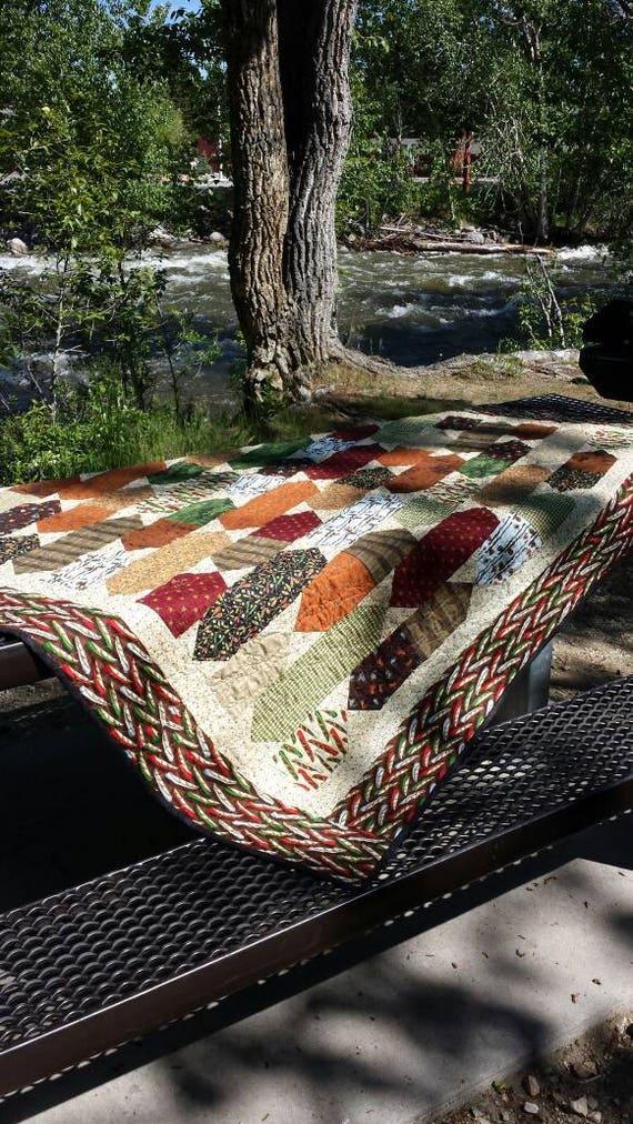 Montana Fishing Quilt Kit, Pattern Designer Daniela Stout from Cozy Quilt Designs