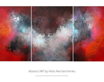 abstract painting . Large Abstract Painting by Alex Senchenko. 3 in 1 . Contemporary ART. abstract wall art .  original painting . abstract