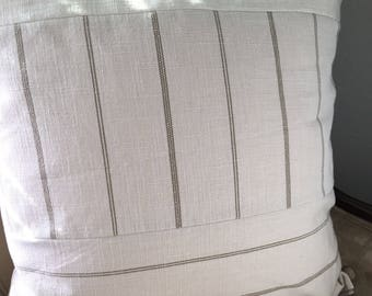 Tan Cream Pillow Cover 22 x 22 inch Pillow Cover Neutral Pillow Cover Neutral Home Decor Tan Stripe Pillow Cover Tan Cream Stripe Pillow