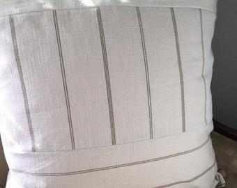 Tan Cream Pillow Cover 22 x 22 inch Pillow Cover Neutral Pillow Cover Neutral Home Decor Tan Stripe Pillow Cover Tan Cream Stripe Pillow