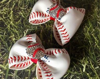 Baseball skin hairbow
