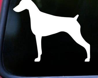 "DOBERMAN PINSCHER 5"" x 4.5"" Vinyl Decal Sticker - Dobie Dog Dobermann *Free Shipping*"