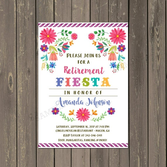 Mexican fiesta retirement party invitation retirement party il570xn solutioingenieria Images