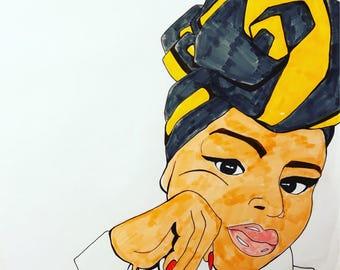 Custom Self Portrait Illustrations