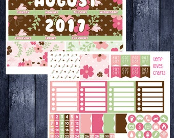 August Monthly Stickers for New Erin Condren Life Planner