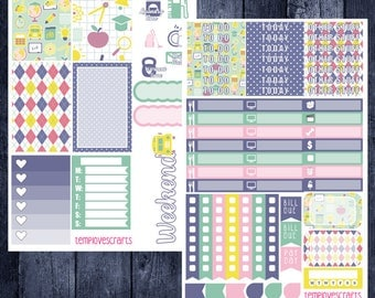 School Days Kit for Happy Planner
