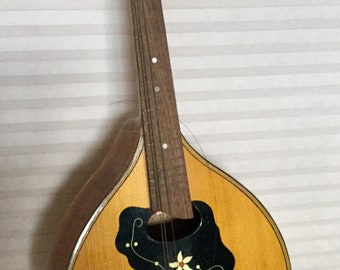 Antique Inlaid Czechoslovakian Mandolin, As found
