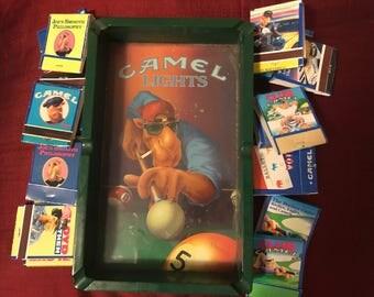 Joe Camel Lights 1990's billiards ashtray & machbooks