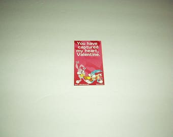 1994 The BUGS BUNNY Cartoon Valentine Card By Warner Bros. (You Have Captured My Heart) Rare, used Collectible Card