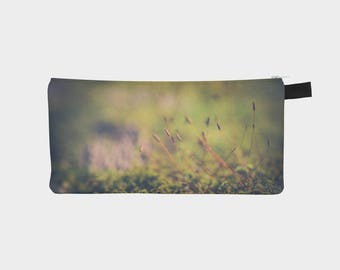 Moss Pencil Case, Green Pouch, Pencil Pouch, Make Up Bag, Nature Pouch, Fairy Land Bag, Zipper Pouch, pencil bag, Cosmetic Bag, Small Pouch