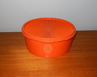 Vintage Classic Tupperware Container in Orange