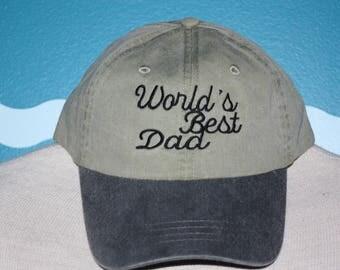 World's Best Dad baseball cap - Dad ball cap - baseball hat for Dad - custom embroidered cap