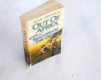 Out of Africa and Shadows On The Grass by Isak Dinesen (1985, Vintage Books) Vintage Autobiography Paperback Book