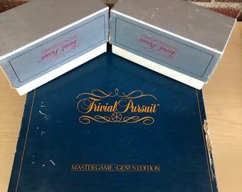 Original 1981 , Trivial Pursuit Board Game ,Master Game Genus Edition, Adult Board Game, Trivia game, Baby Boomer