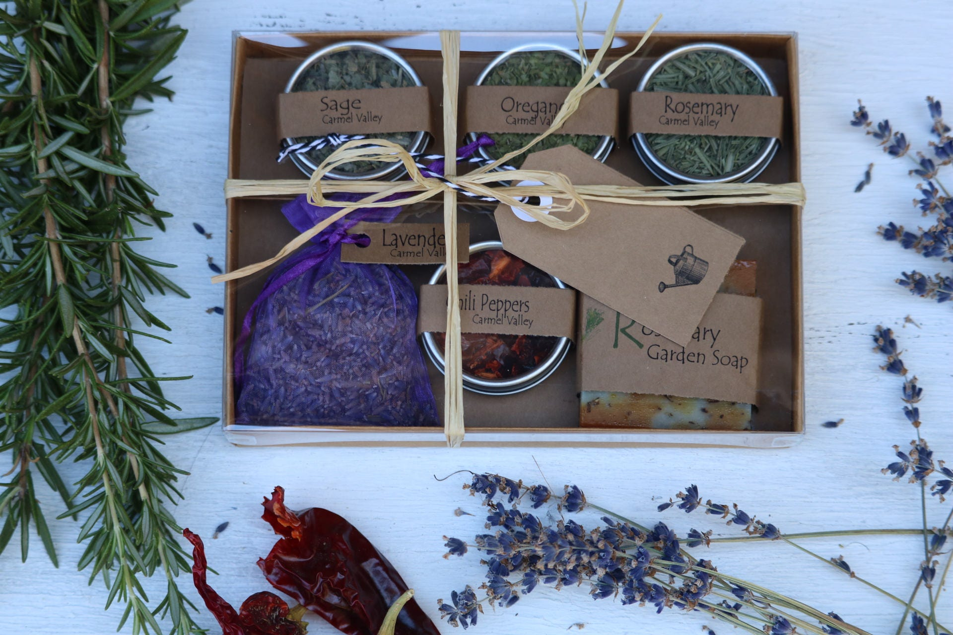 dried herbs and rosemary garden soap gardening gift gifts for