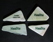 Healite Flat Touchstones ~ 4 pieces ~ Clears Pain ~ Tumbled Soft ~ Reiki Charged ~ HL8