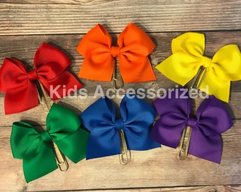 Ribbon bow planner clips