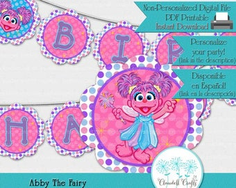 Abby The Fairy Inspired Birthday Party Printable Banner